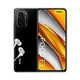 """POCO F3 5G - Smartphone 8+256GB, 6,67"""" 120 Hz AMOLED DotDisplay, Snapdragon 870, cámara triple de 48MP, 4520 mAh, Negro Nocturno (versión ES/PT), incluye auriculares Mi"""