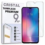 REY Protector de Pantalla para XIAOMI MI A3 - MiA3 - CC9e, Cristal Vidrio Templado Premium