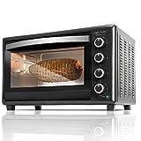 Cecotec Bake&Toast 750 Gyro - Horno Sobremesa, 2000 W, 12 Modos, Temperatura hasta 230ºC y Tiempo hasta 60 Minutos, Incluye Accesorio Rustidor con pinzas, Capacidad 46L 37x57x39cm