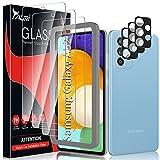 TAURI 6 Pack Protector de Pantalla para Samsung Galaxy A52 4G/5G,Contiene 3 Pack Cristal Vidrio Templado y 3 Pack Protector de Lente de cámara,Doble Protección alineación Instalación fácil