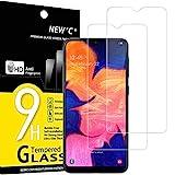 NEW'C 2 Unidades, Protector de Pantalla para Samsung Galaxy A10 (SM-A105F), M10, Antiarañazos, Antihuellas, Sin Burbujas, Dureza 9H, 0.33 mm Ultra Transparente, Vidrio Templado Ultra Resistente