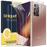 UniqueMe [2+2 Pack] Compatible con Samsung Galaxy Note 20 Ultra 5G / 4G 6.9 Pulgada Protector de Pantalla de TPU y Protector de Lente de Cámara [Sin Burbujas] HD Film [Flexible] Transparente
