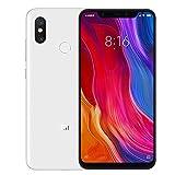 Xiaomi Mi 8 - Smartphone Dual SIM de 6.21' (Octa-Core Kryo 2.8 GHz, RAM de 6 GB, Memoria de 64 GB, cámara de 20 MP, Android 8.0) Color Blanco [Versión Oficial]