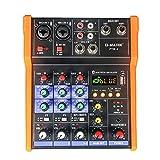 Mesa de mezclas G-MARK de 4 canales, profesional, USB, Bluetooth, estéreo, para Live y Studio