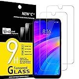 NEW'C 2 Unidades, Protector de Pantalla para Xiaomi Redmi 7, Redmi Y3, Antiarañazos, Antihuellas, Sin Burbujas, Dureza 9H, 0.33 mm Ultra Transparente, Vidrio Templado Ultra Resistente