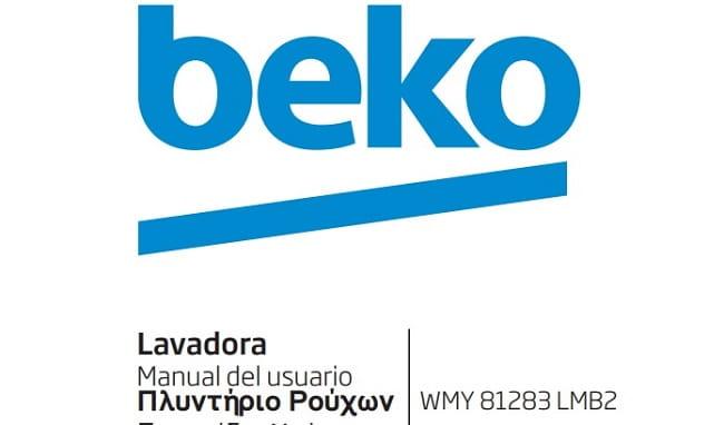 Manual De Instrucciones Lavadora Beko WMY 81283 LMB2