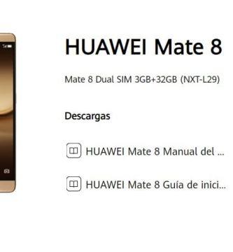 manual de usuario huawei mate 8