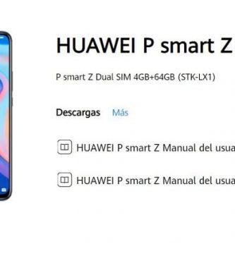 manual de usuario huawei p Smart Z