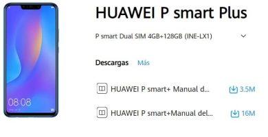 manual huawei p smart plus