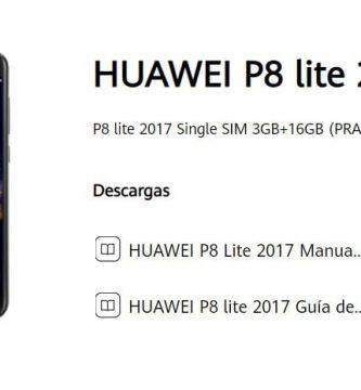 manual de usuario huawei p8 lite 2017