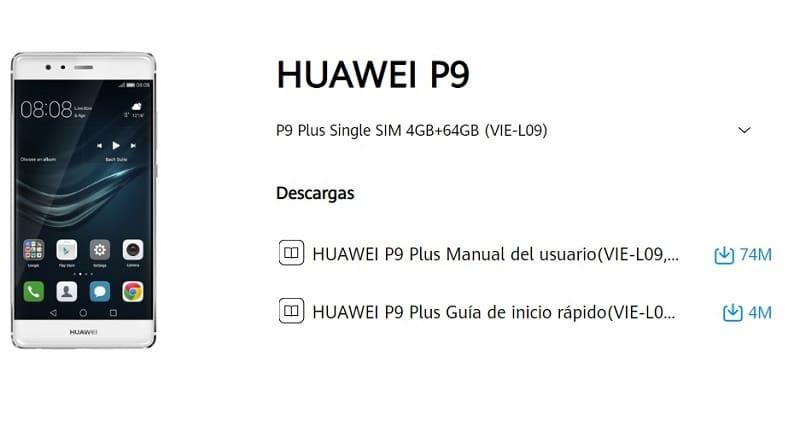 manual de usuario huawei p9 en español.