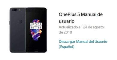 manual usuario one plus 5 español