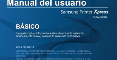 impresora samsung SL M2022 manual en castellano pdf.