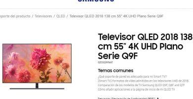 manual de televisor qled plano seri q9F en español pdf.