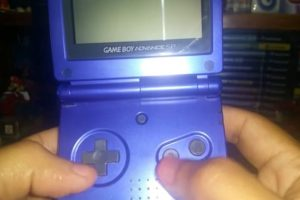 guía de usuario game boy advance sp.
