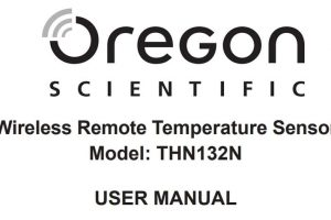 oregon scientific manual español