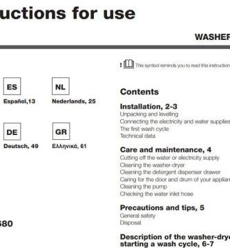 Manual De Lavadora Indesit IWDC 71680 ECO