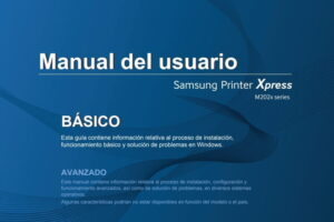 Samsung Xpress M2020 manual pdf.