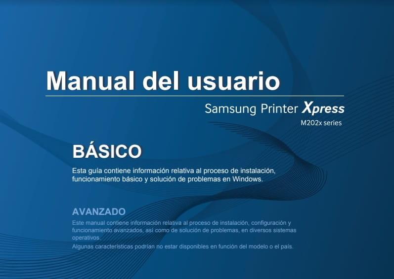 Samsung Xpress M2020 manual pdf.