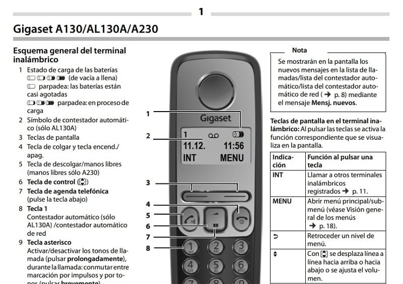 Gigaset A130 En PDF.