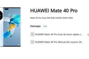 manual huawei mate 40 pro.