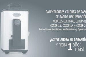 manual Calorex COXDP-06 pdf.